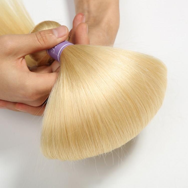 613 hair bundles and closure