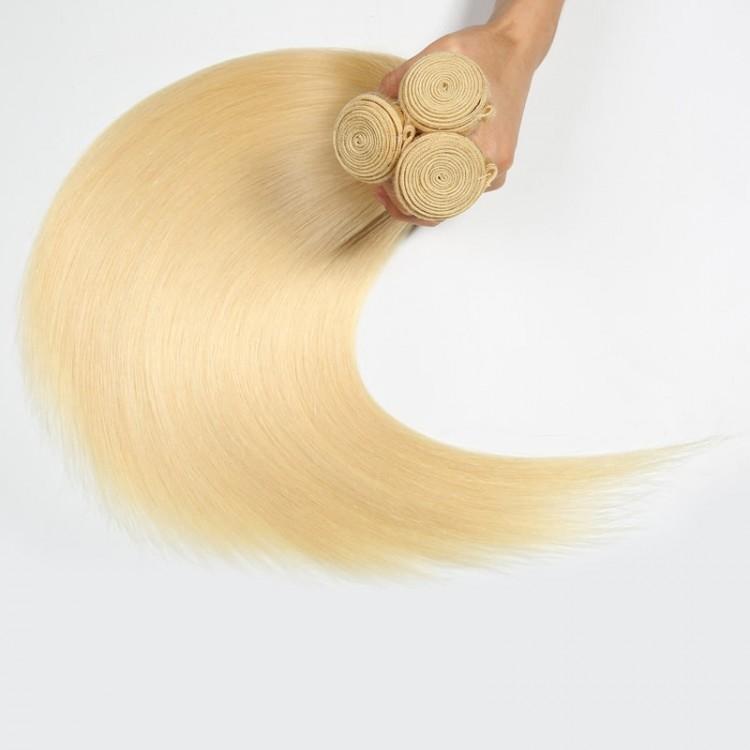 3 bundles 613 blonde hair
