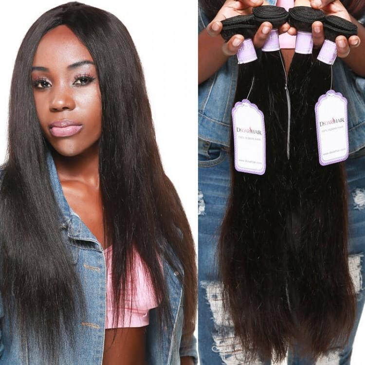 4 bundles straight hair