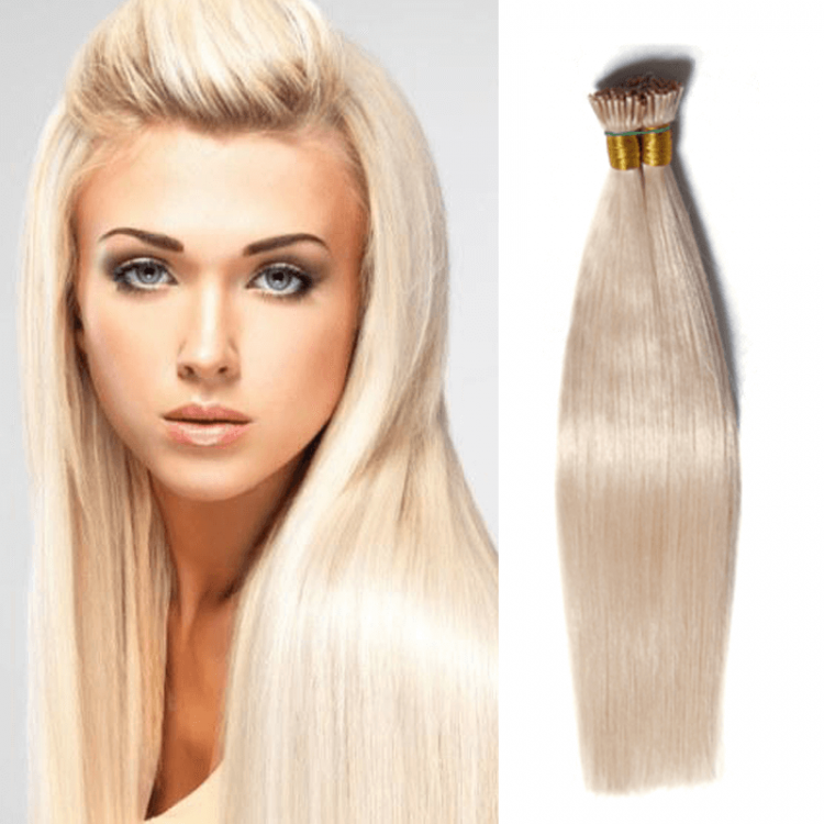 DSoar Hair 50g I Tip Peruvian Straight Human Virgin Hair