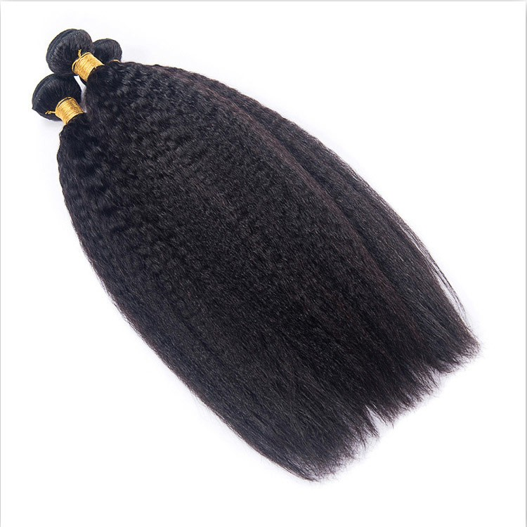 kinky straight human hair weave