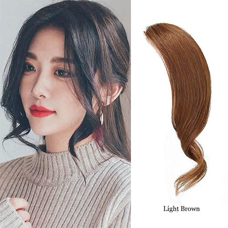light brown hair bangs