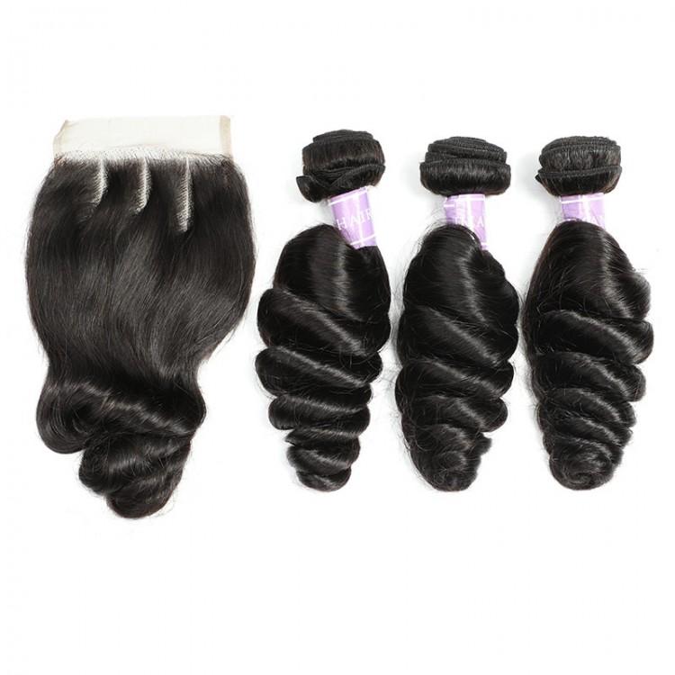 3 bundles with lace closure