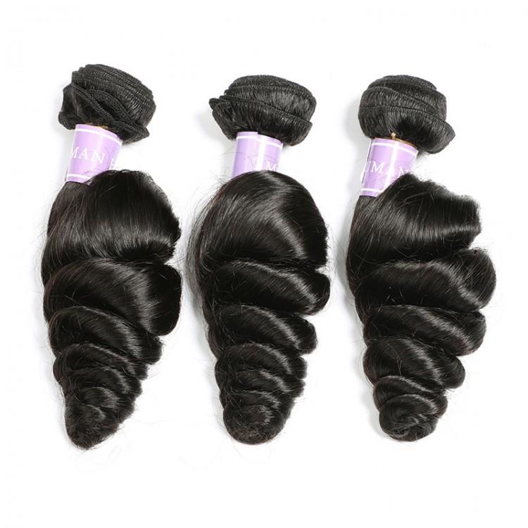 Brazilian loose wave hair bundle