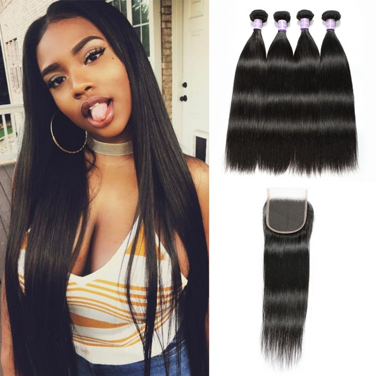 Malaysian hair with closure