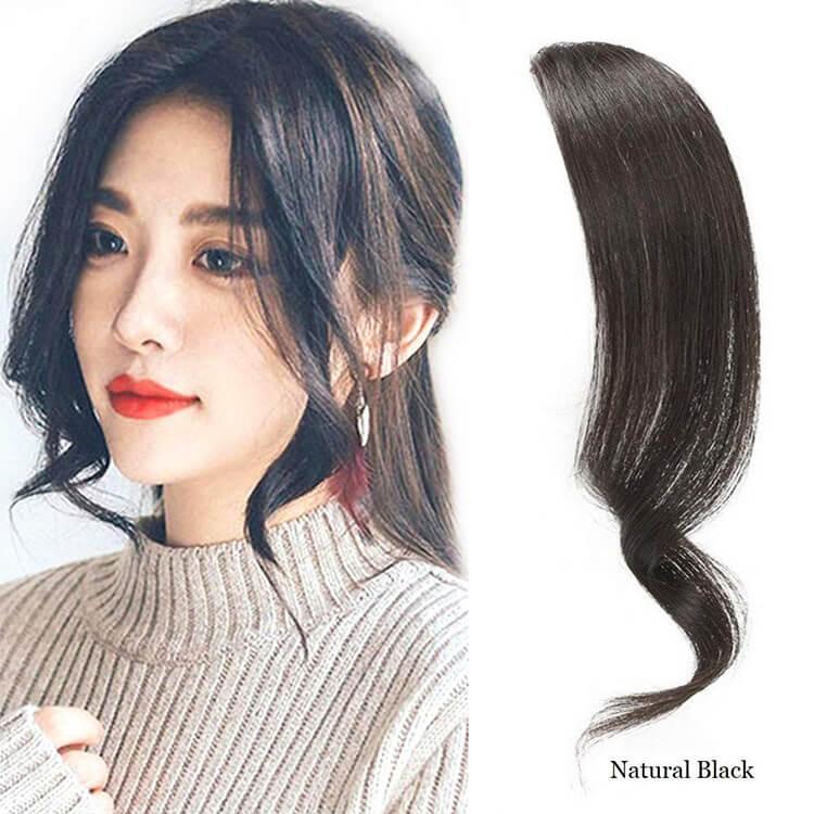 natural black hair bangs