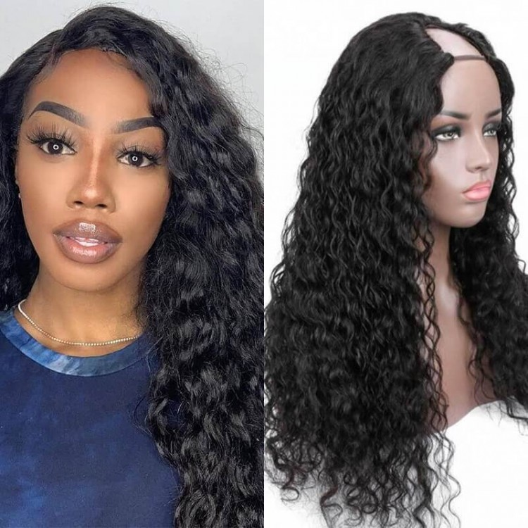 natural wave u part wig