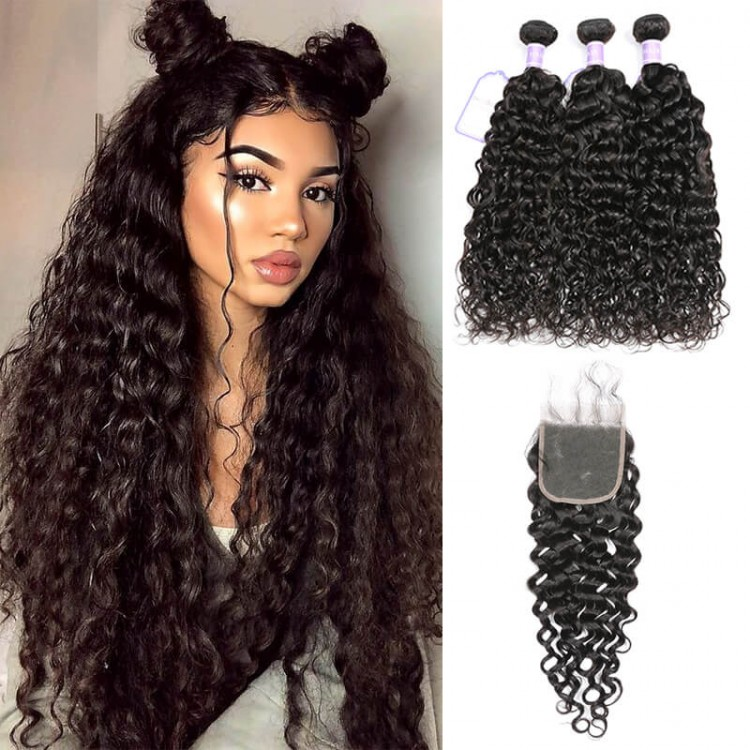 3 Hair Bundles With Lace Closure