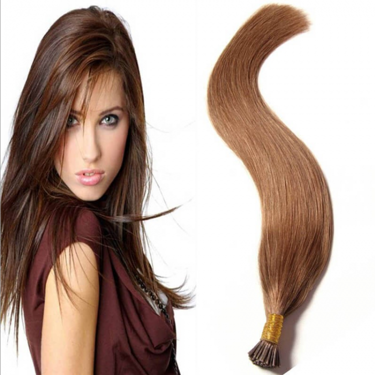50g I Tip Straight Hair Extension