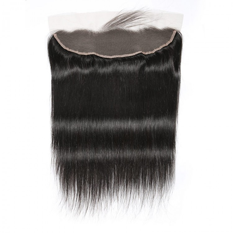 Brazilian straight hair with lace frontal closure