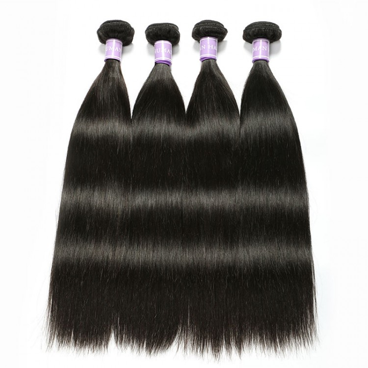 Malaysian straight hair 4 bundles