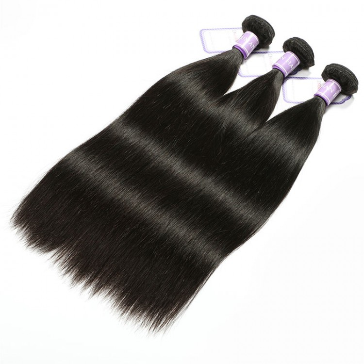 natural black straight hair