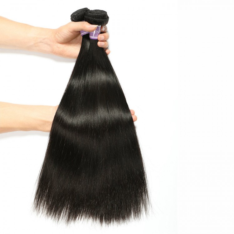 natural black Malaysian straight hair