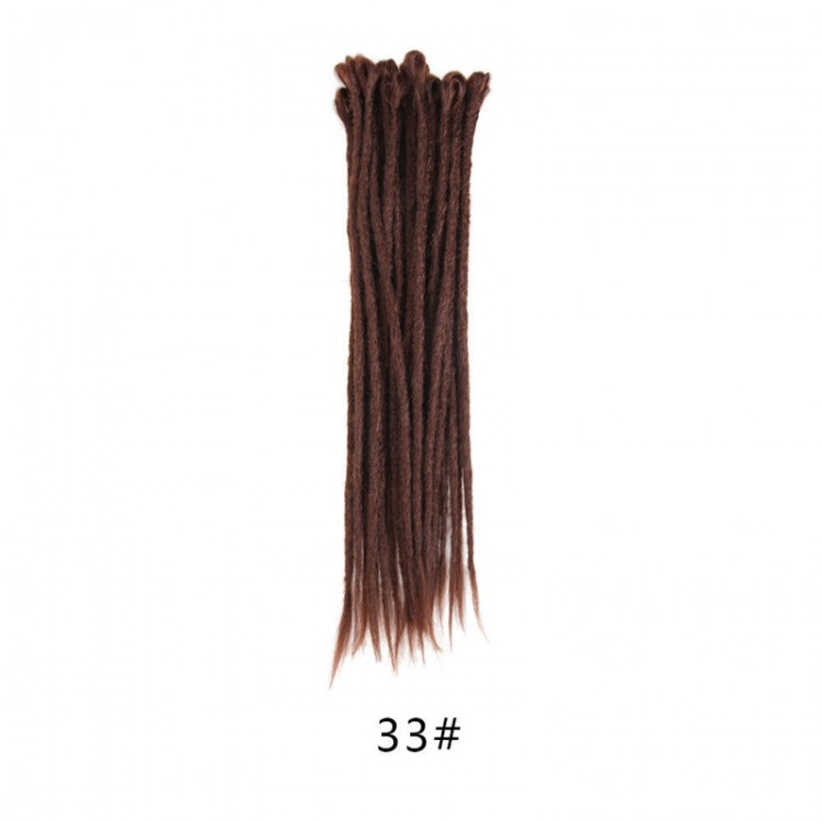 33# Color Handmade Synthetic Dreads