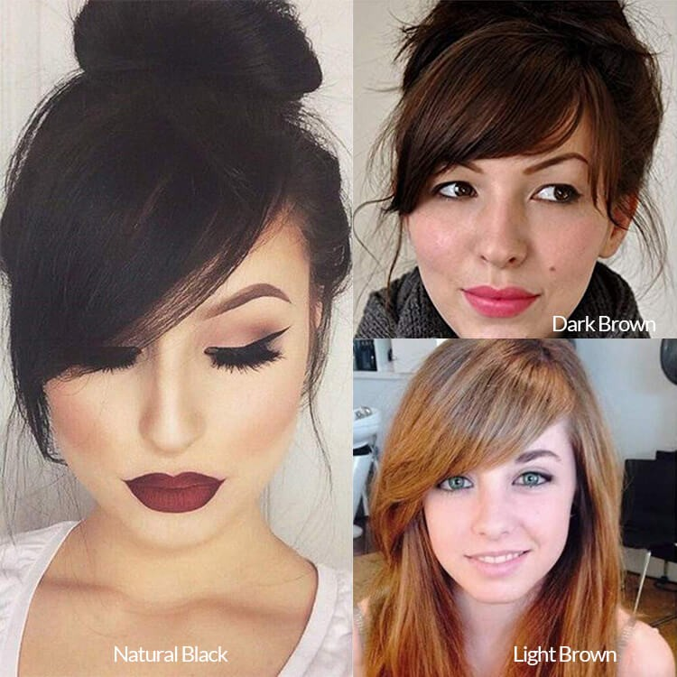 thick side bangs