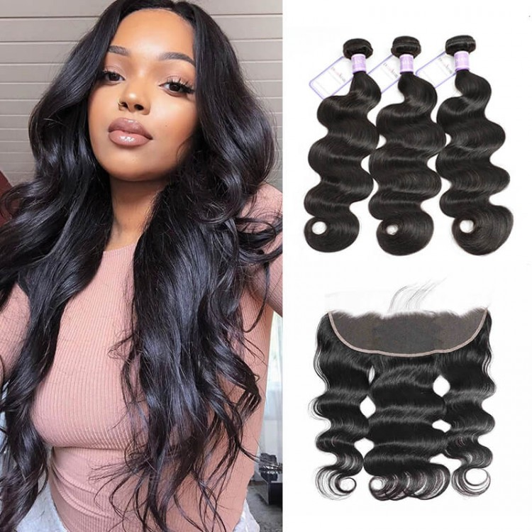 Unprocessed Brazilian Hair Body Wave Lace Frontal Closure