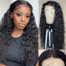 Dsoar Hair Lace Front Wigs Human Hair Water Wave 13x6 HD Lace Frontal Human Hair Wig Pre Plucked for Black Women