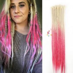 Blonde/Pink Synthetic Dreadlocks