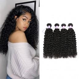 Malaysian curly virgin hair 3 bundles natural black remy hair weave