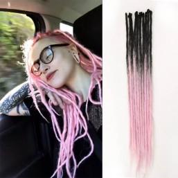 Black/Pink Synthetic Dreadlocks