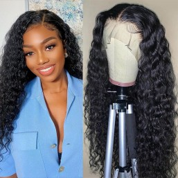 DSoar Hair High Quality 13x4 Lace Front Wigs Water Wave Wigs With Baby Hair