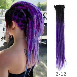 DSoar Black/Purple Crochet Hair Dreadlock Extensions