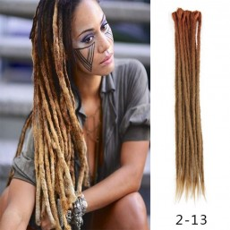 Ombre Brown color Crochet Braids Dreadlock Extensions