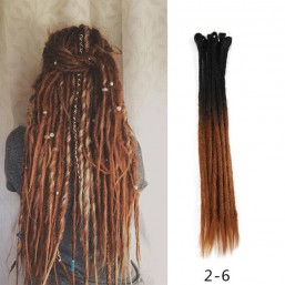 Brown Dreadlocks extensions Synthetic Hair Crochet Faux Locs