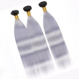 Ombre Straight Hair Indian Hair Weave 3 Bundles