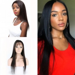 Straight Hand Tied Full Lace Wig with Baby Hair Human Hair