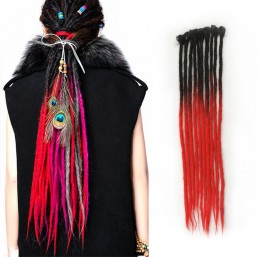 Black/Red Synthetic Locks