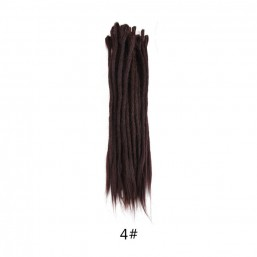 DSoar 4 dark brown dyed Dreads Hair Synthetic Dreadlock Extensions Styles 20 inch