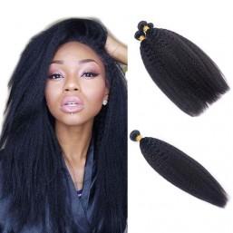 4PcsPack Peruvian Kinky Straight Hair Bundles DSoar Virgin Hair