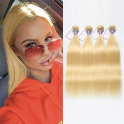 Straight 613 Blonde Bundles 4Pcs/Pack Indian Remy Human Hair