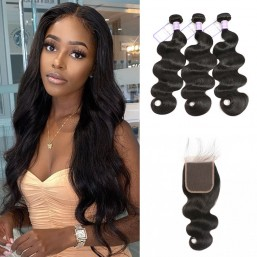 Indian 5x5 body wave hair bundles