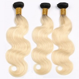 black and blonde ombre hair