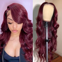 99j body wave lace front wig