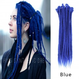 DSoar Blue Single Ended Dreadlock Extensions