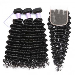 3 Bundles With Lace Closure