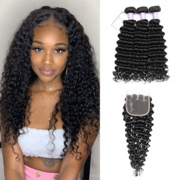 Deep Wave Virgin Hair Sew In