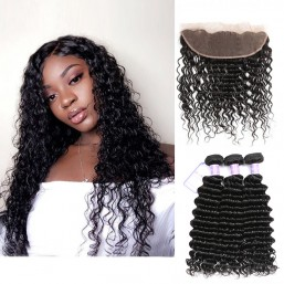 3 Bundles With Lace Frontal