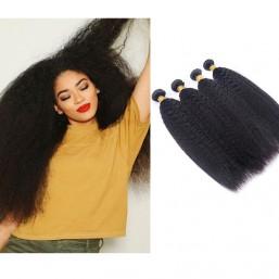 DSoar Hair Brazilian Kinky Straight Weave Hair 4 Bundles