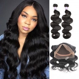 DSoar Hair Malaysian 2 Bundles Body Wave Virgin Human Hair