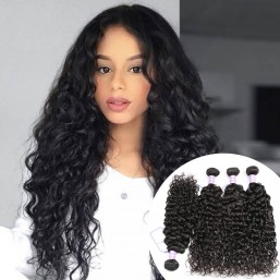 virgin Indian 4 bundles  natural wave hair