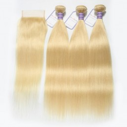 613 Blonde Bundles With Closure