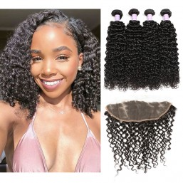 Indian Remy Curly Hair Lace Frontal