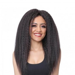 Kinky Straight Hair Lace Front Wig