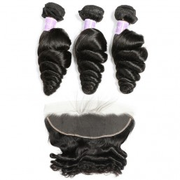 Loose Wave Weave 3 Bundles And Lace Frontal