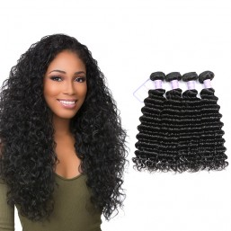 Malaysian Deep Wave 4 Bundles Virgin Human Hair