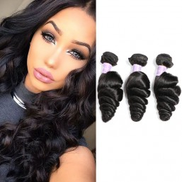 remy loose wave hair weave